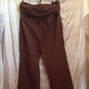 Babystyle Brown Cotton Maternity Pants XL